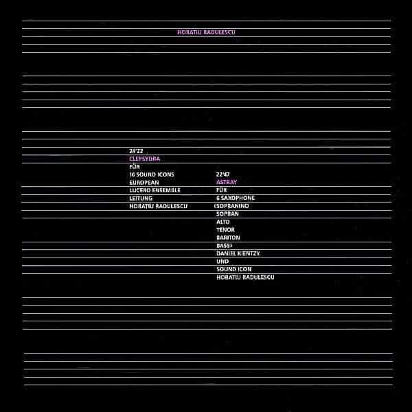 HORATIU RADULESCU / Clepsydra / Astray (LP)