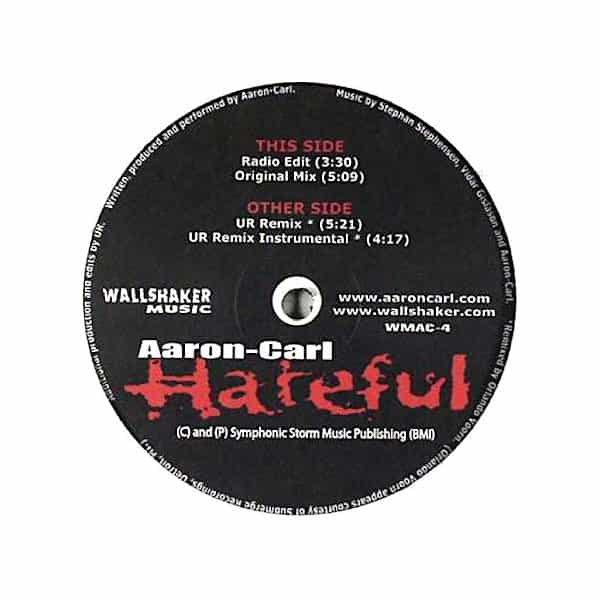AARON-CARL / Hateful (12 inch) - sleeve image