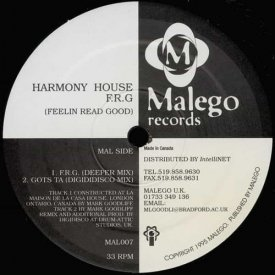 HARMONY HOUSE / F.R.G (Feelin Read Good) (12 inch-used)