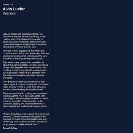 ALVIN LUCIER / Vespers (LP) - sleeve image