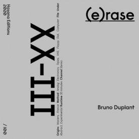 BRUNO DUPLANT / (e)rase (Cassette/DL) - sleeve image