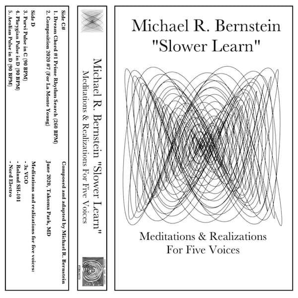 MICHAEL R. BERNSTEIN / Slower Learn (Meditations & Realizations For Five Voices) (Cassette)