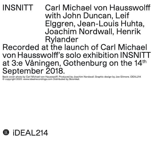 CARL MICHAEL VON HAUSSWOLFF / INSNITT (CD)