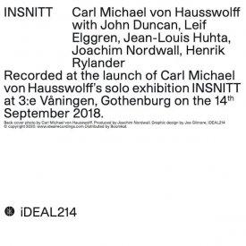 CARL MICHAEL VON HAUSSWOLFF / INSNITT (CD) - sleeve image
