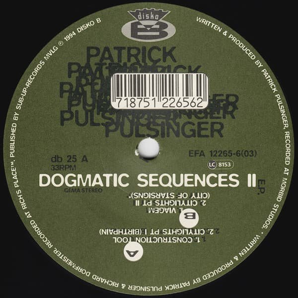 PATRICK PULSINGER / Dogmatic Sequences II (12 inch-used)