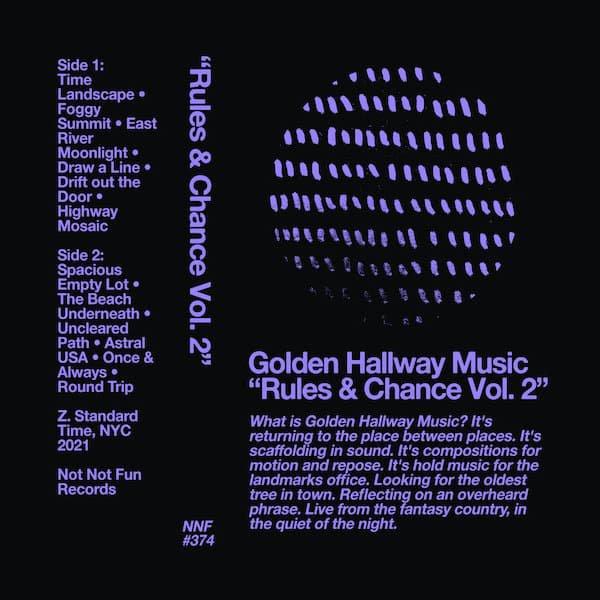 GOLDEN HALLWAY MUSIC / Rules & Chance Vol. 2 (Cassette)