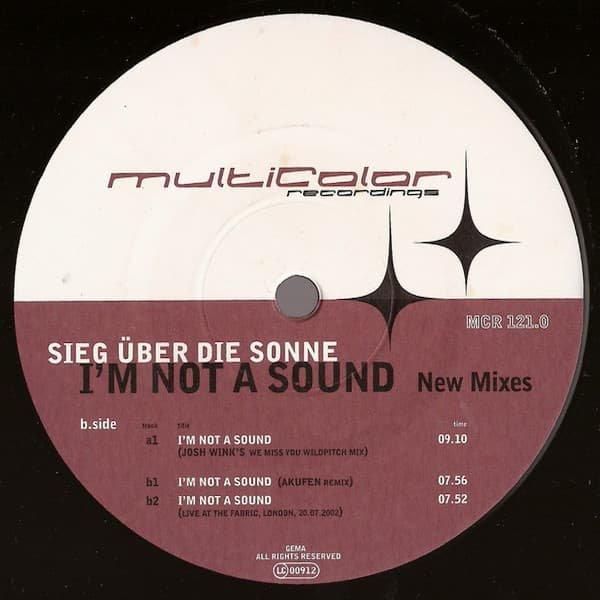 SIEG ÜBER DIE SONNE / I'm Not A Sound (New Mixes) (12 inch-used)