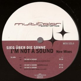 SIEG ÜBER DIE SONNE / I'm Not A Sound (New Mixes) (12 inch-used) - sleeve image