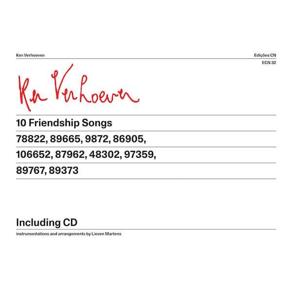 KEN VERHOEVEN & LIEVEN MARTENS / 10 Friendship Songs (CD+Book)