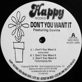DAVINA / Don't You Want It (12 inch)