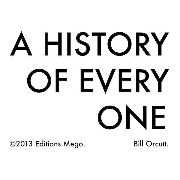 BILL ORCUTT / A History Of Every One (CD/LP)