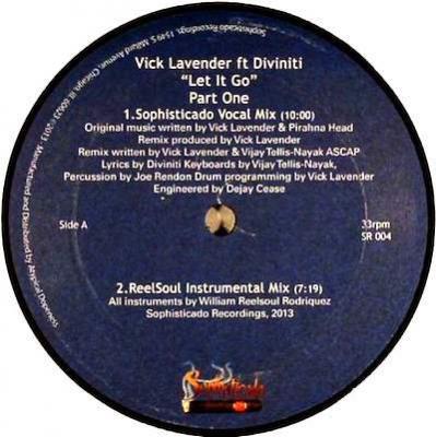 VICK LAVENDER Ft DIVINITI / Let It Go - Part One (12 inch)