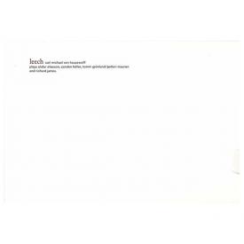 CARL MICHAEL VON HAUSSWOLFF / Leech (CD)