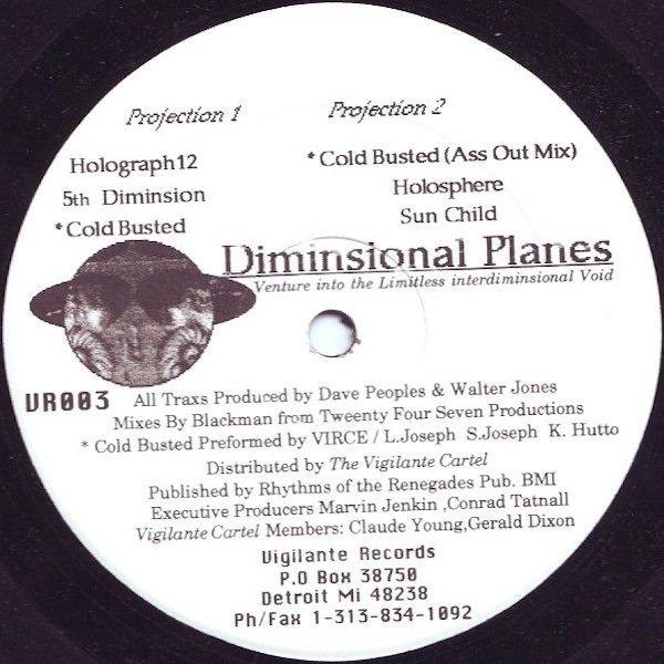 DAVE PEOPLES & WALT J / Diminsional Planes (12 inch)