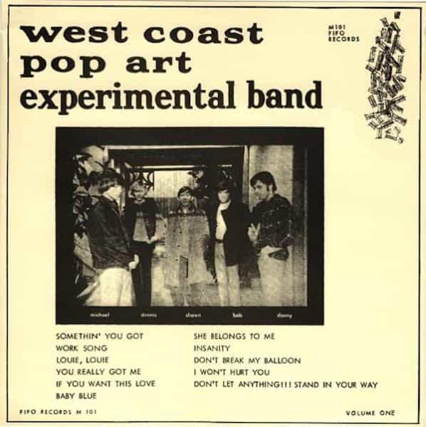 the west coast pop art experimental band volume 1 lp record