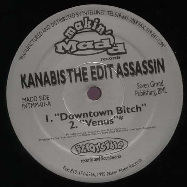 KANABIS THE EDIT ASSASSIN / Downtown Bitch (12 inch) Cover