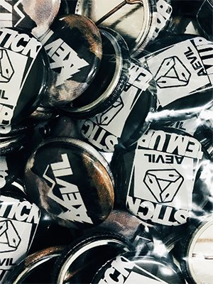 """【Made in USA】Aevil Labels """"5Pack Can Badge"""""""