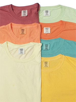 "Comfort Colors ""6.1oz Crew Tee_Garment Dye"" 7Colors"