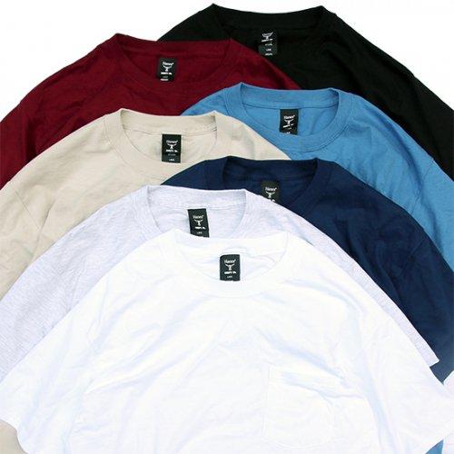 "Hanes 6.1oz ""BEEFY-T"" Pocket T-Shirts/�إ��� �ݥ��å�T�����-�ۥ磻��"