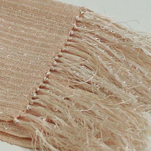 桜染め 手織りスピンピコットストール
