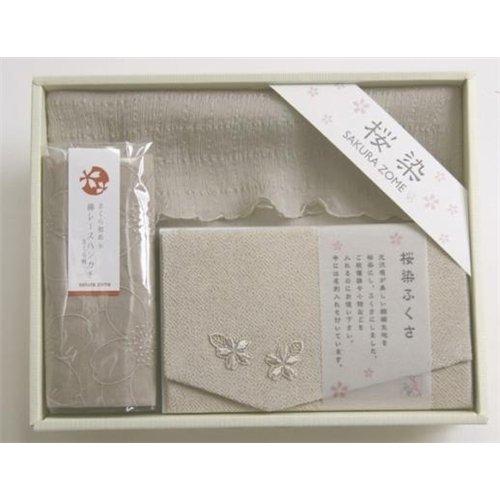 ミヌーシュ・オリジナル 桜染め 3点セット 銀桜色