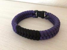 パラコード・柔術帯ブレスレット(紫帯)