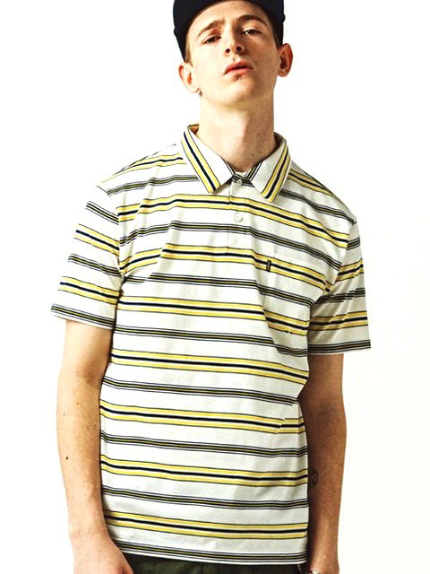 [CLUCT] S/S ORIGINAL BORDER STRIPE POLO