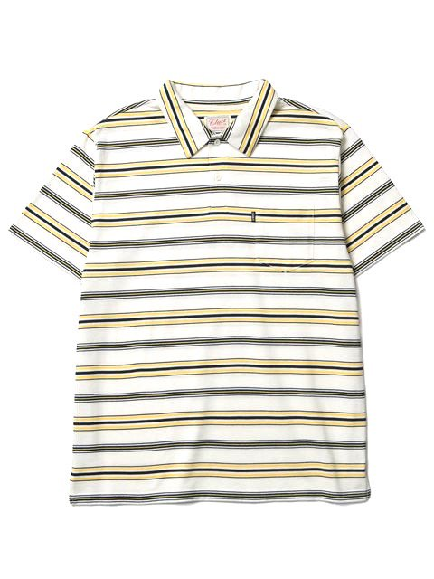 [CLUCT] S/S ORIGINAL BORDER STRIPE POLO1