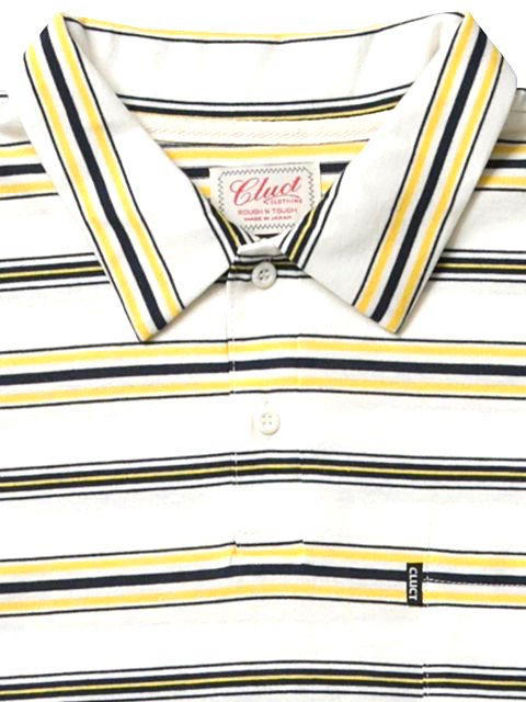 [CLUCT] S/S ORIGINAL BORDER STRIPE POLO3