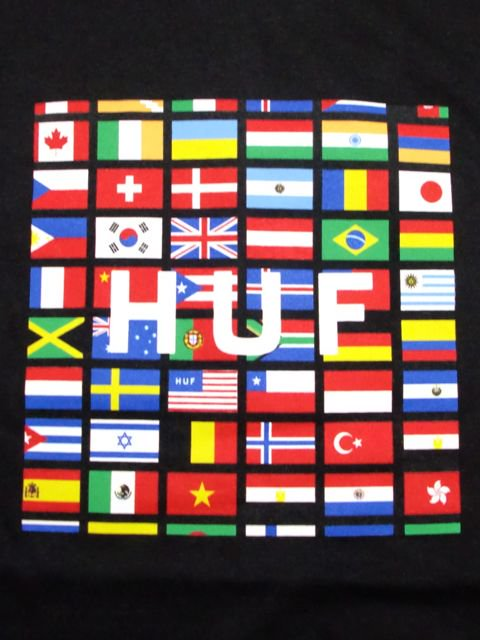 [HUF] FLAG BOX LOGO TEE1