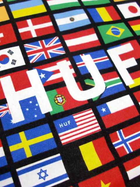 [HUF] FLAG BOX LOGO TEE2
