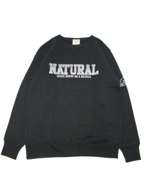 [NATURAL BICYCLE] NATURAL SIGN Crew Sweat(BK)