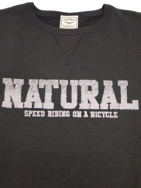 [NATURAL BICYCLE] NATURAL SIGN Crew Sweat(BK)1