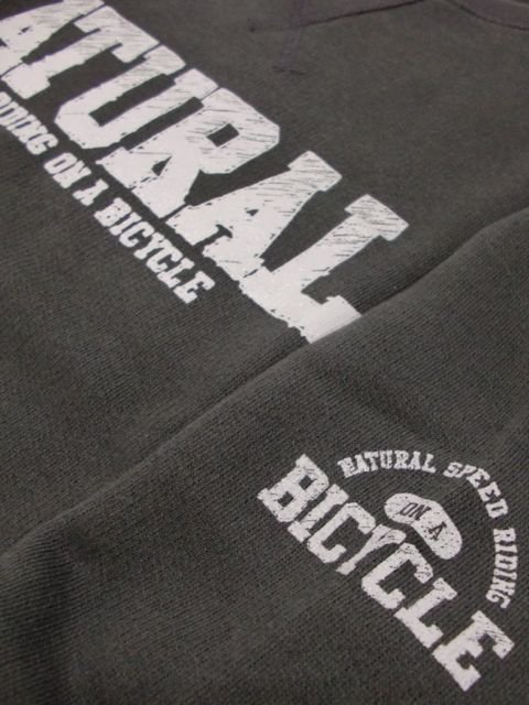 [NATURAL BICYCLE] NATURAL SIGN Crew Sweat(BK)2