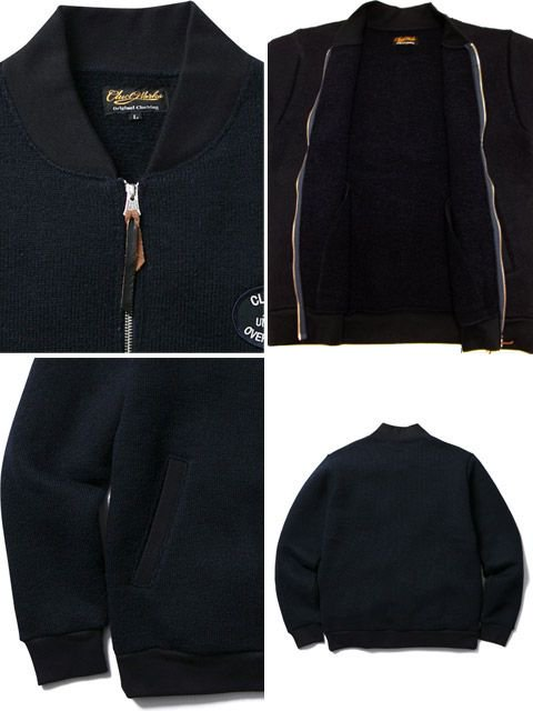 [CLUCT] FULL ZIP KNIT BOMBER3