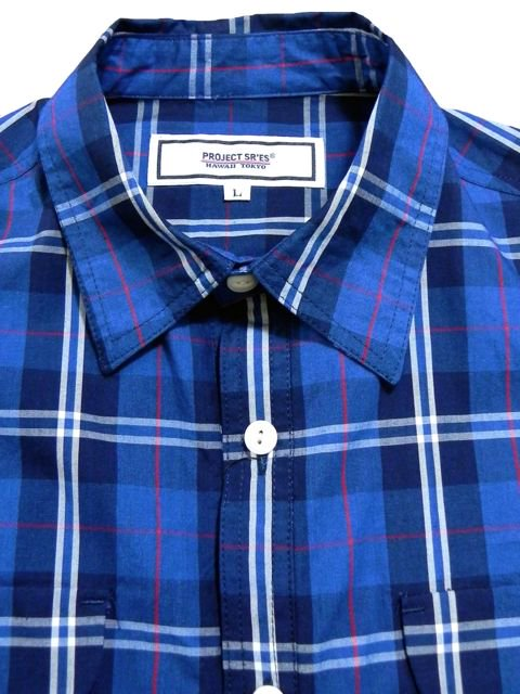 [PROJECT SR'ES] INDIGO CHECK SHIRT1