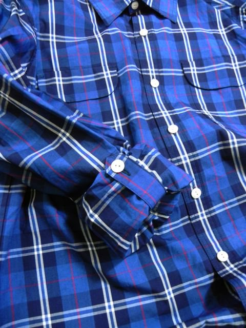 [PROJECT SR'ES] INDIGO CHECK SHIRT2