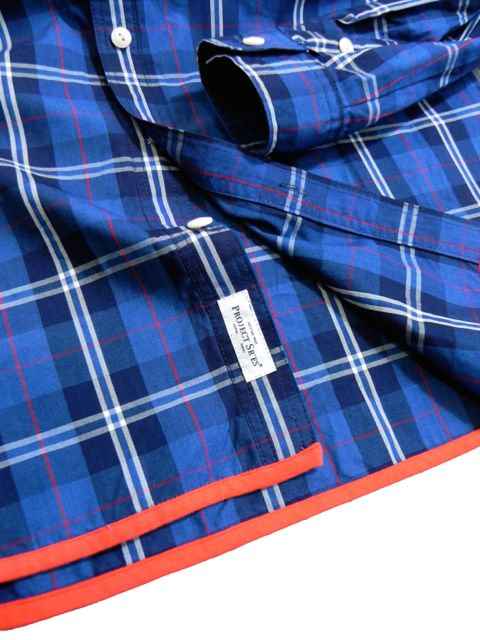 [PROJECT SR'ES] INDIGO CHECK SHIRT3
