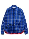 [PROJECT SR'ES] INDIGO CHECK SHIRT