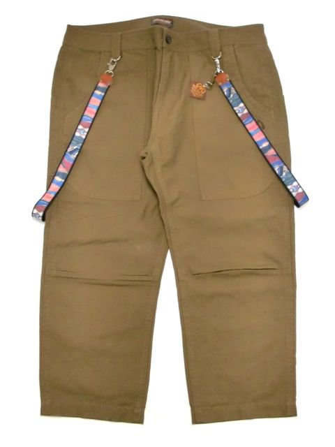 [MANIC DEE] JUST DIG IT. COOGI SUSPENDERS CROPPED PANTS