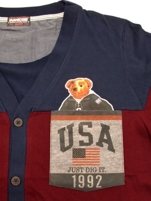 [MANIC DEE] JUST DIG IT. 1992 USA POCKET CARDIGAN1