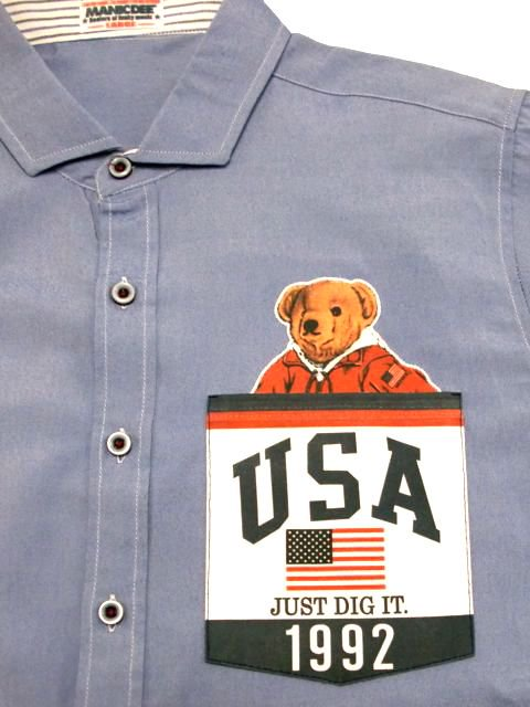 [MANIC DEE] JUST DIG IT. 1992 USA POCKET B/D OXFORD SHIRTS1