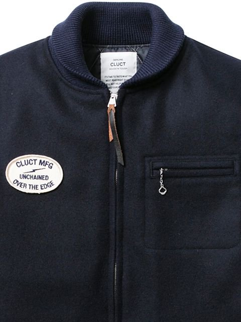 [CLUCT] SHAWL COLLAR MELTON JACKET2