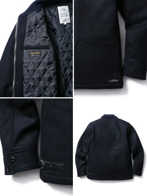[CLUCT] SHAWL COLLAR MELTON JACKET3