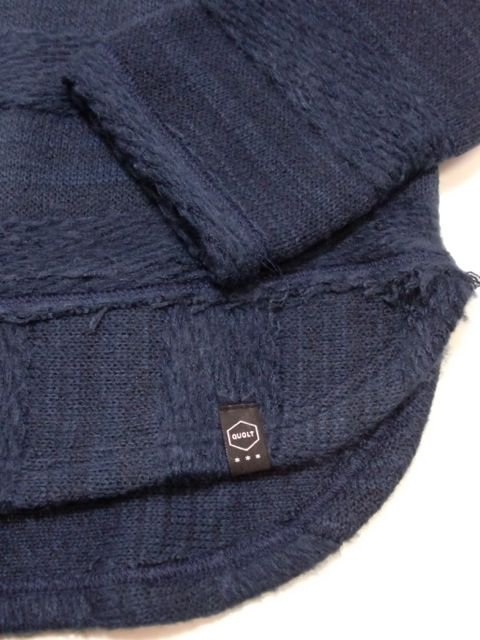 [quolt] MOHAIR-BORDER KNIT(NV)3
