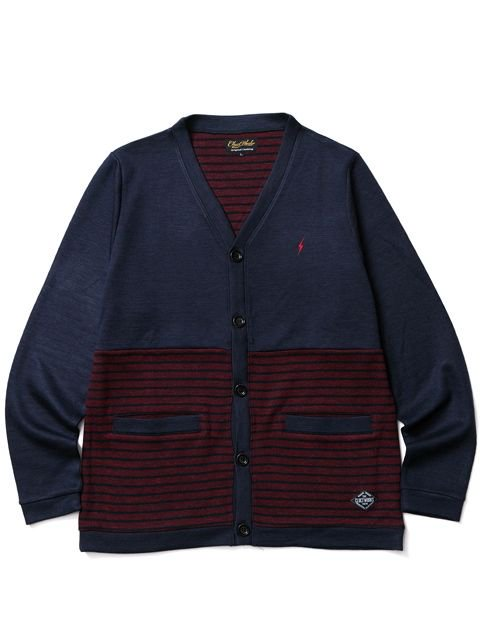 [CLUCT] DIVISION STRIPE CARDIGAN
