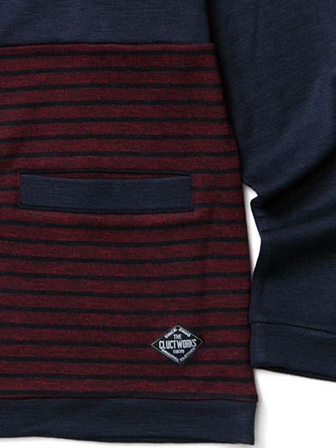 [CLUCT] DIVISION STRIPE CARDIGAN2