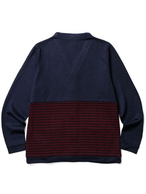 [CLUCT] DIVISION STRIPE CARDIGAN3