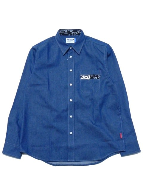 [DOUBLE STEAL] DOU Pocket DENIM shirt(PA)