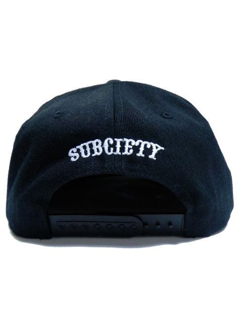 [SUBCIETY] SNAP BACK CAP -GLORIOUS-(BK/WH)2